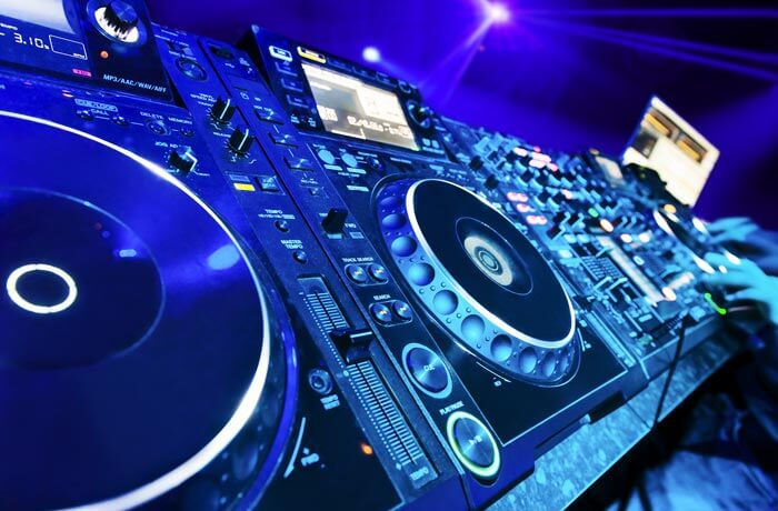 Image of DJ spinning tracks in Queenstown nightclub